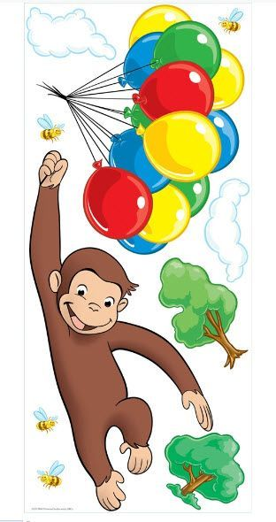 Curious george giant wall stickers for Curious george giant wall mural