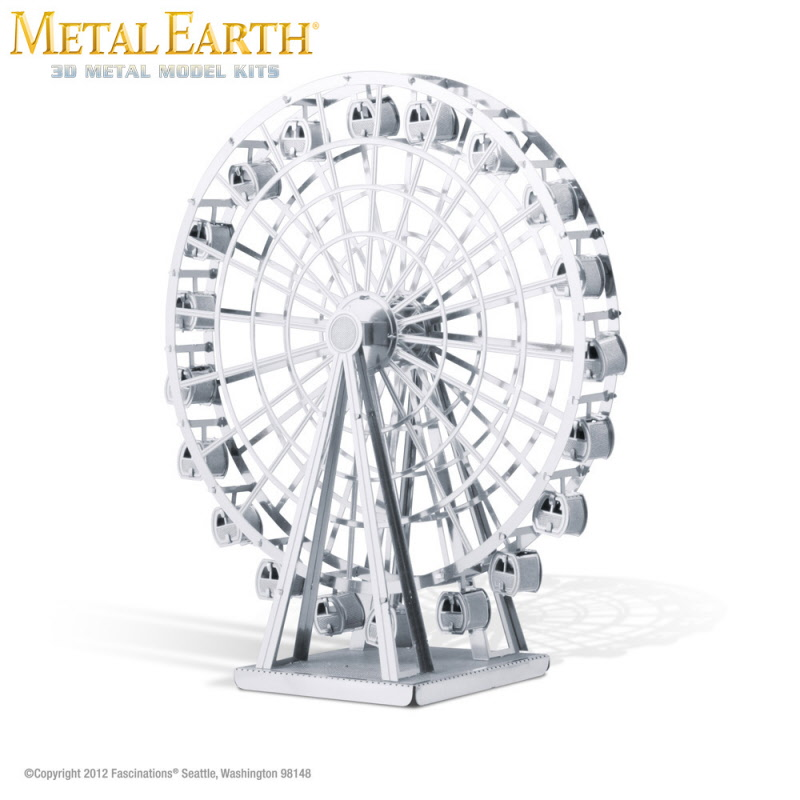 P1115 Fascinations Metal Earth Ferris Wheel Laser Cut 3D Model on miniature tools