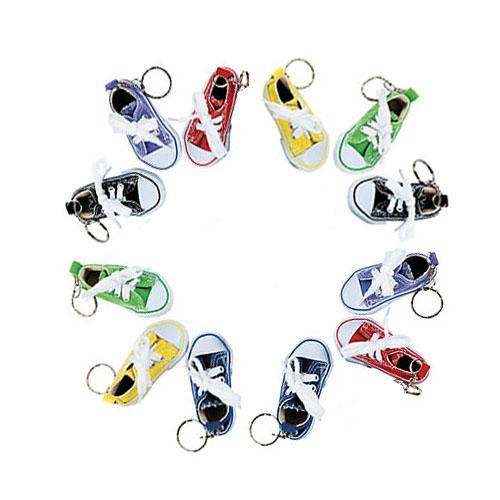 cf3cad385dc4 Canvas Sneaker (Lot of 12) Tennis Shoe Chucks Keychain Party Favors ...