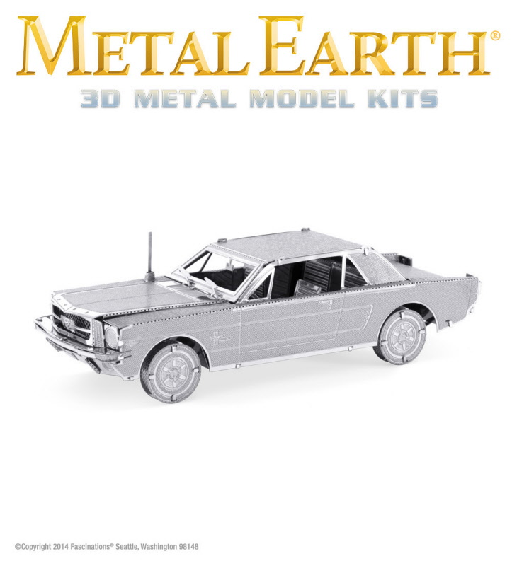 Fascinations Metal Earth 3D Laser Cut Steel Model Kit 1965 Ford Mustang Coupe