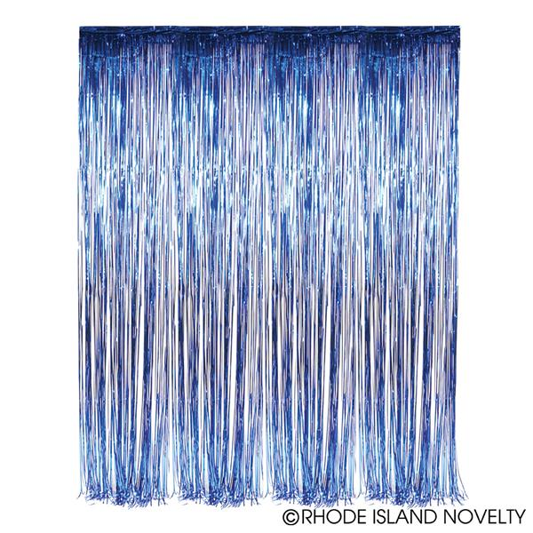 Foil Fringe Curtains BLUE 2