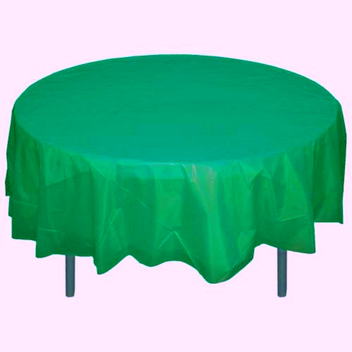 Round Plastic Table Cover 84 Inches