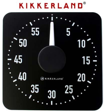 ... Magnetic Kitchen Timer Black By Kikkerland.  Xl_kitchen_timer_20151224074640